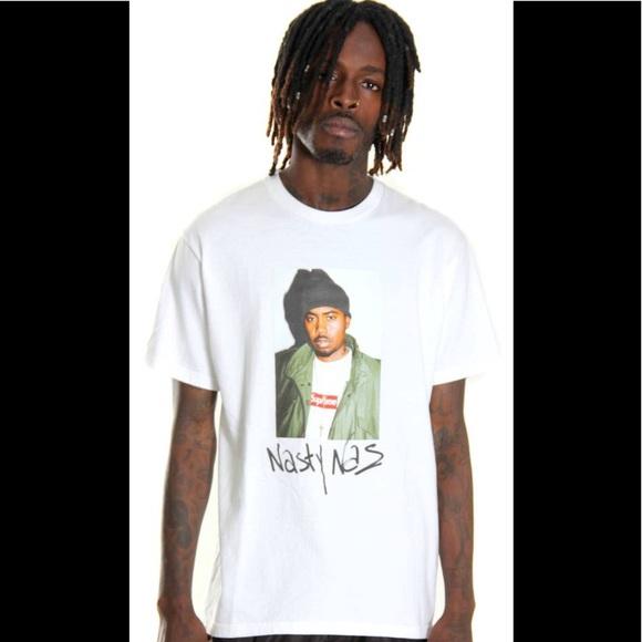 0ecab077 Supreme Shirts | Nasty Nas Photo Tee White Medium | Poshmark